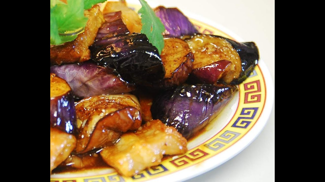 Stir fry pork with eggplant in sweet plum sauce youtube forumfinder Choice Image