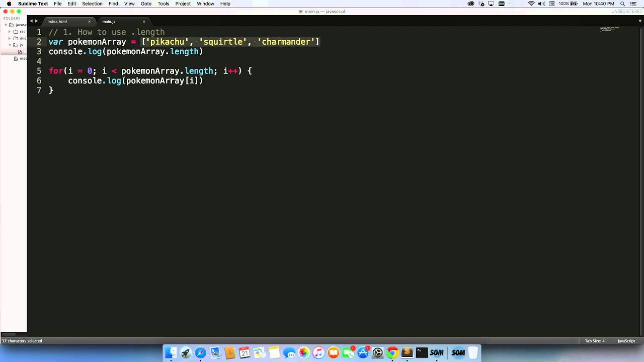 Line Drawing In Html : How to use .length youtube