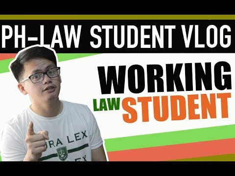 STRUGGLES OF A WORKING LAW STUDENT | LAW SCHOOL PHILIPPINES