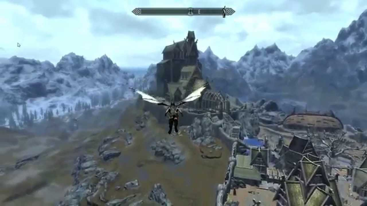 Skyrim Dragon Wings And Flying Mod Youtube