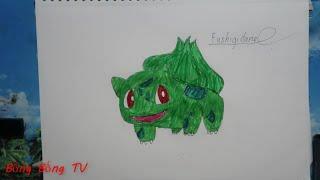 cach vẽ và tô màu pokemon  Fushigi dane dễ nhất