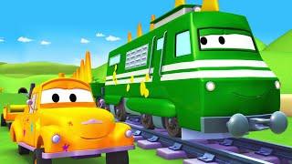 Динозавр Трой - Малярная Мастерская Тома в Автомобильный Город 🎨 детский мультфильм