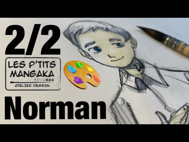 Les p'tits mangaka X Norman - The Promised Neverland - [Drawing Clip] 2/2