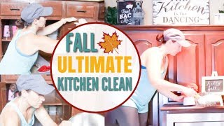 FALL CLEANING ROUTINE | EXTREME CLEANING MOTIVATION | ULTIMATE KITCHEN CLEAN WITH ME