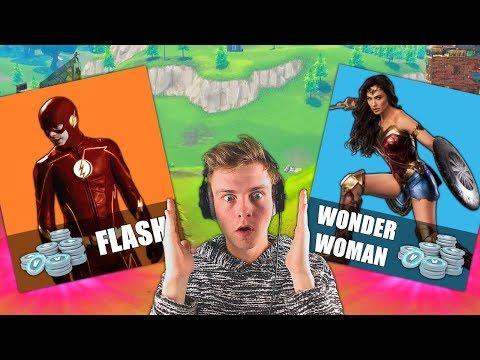 FLASH & WONDER WOMAN SKINS IN FORTNITE?? (Super Hero Skins?)