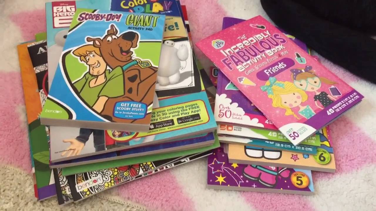 Dollar Tree Haul Sticker Books Adult Coloring Books