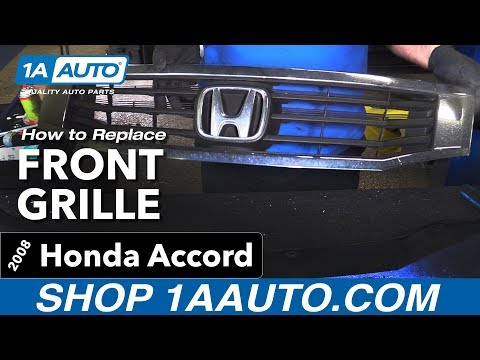 How to Replace Front Grille 08-10 Honda Accord