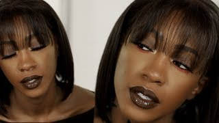 First Fall Look | Glossy Chocolate Brown Makeup Tutorial