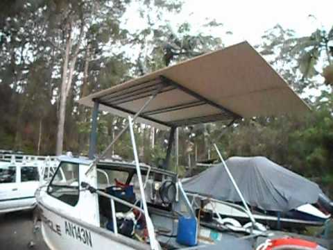 make a cheap boat aluminium hardtop DIY Part 8 - YouTube