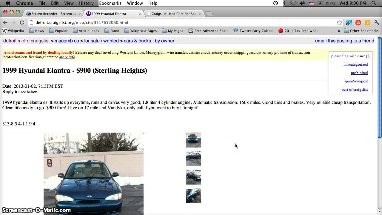Craigslist Cars Under 1000 Dollars - YouTube