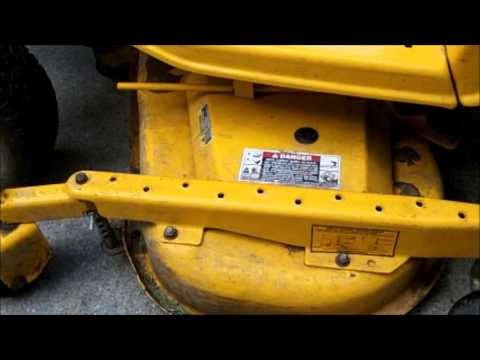 Cub Cadet 2518 deck and belt removal - YouTube