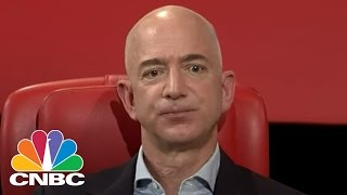 Amazon's Jeff Bezos Discusses Books, Gawker, And Donald Trump At Code Conference | Squawk Box | CNBC
