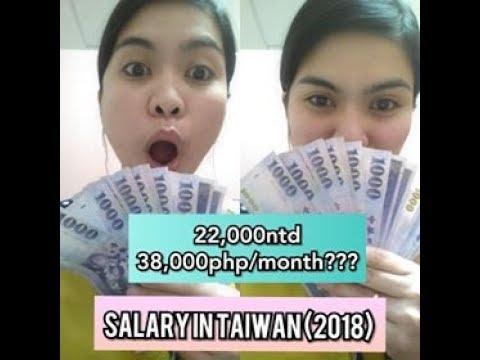 Salary in Taiwan/Factory worker/caretaker????(2018)