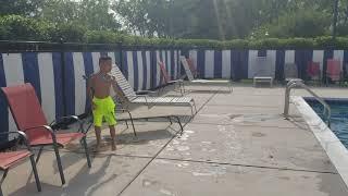 Kung Fu Kids - Flying Side Kick into Swimming Pool