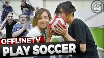 DID HE BREAK HIS NOSE?!? STREAMERS PLAY SOCCER ft. SCARRA, POKIMANE, LILYPICHU, FEDMYSTER & MORE