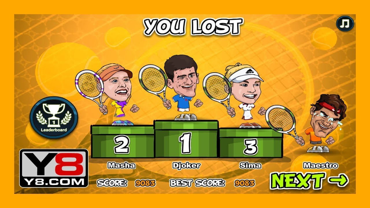 Games For Kids Tennis Legends Y8 Tennis League Sports Game