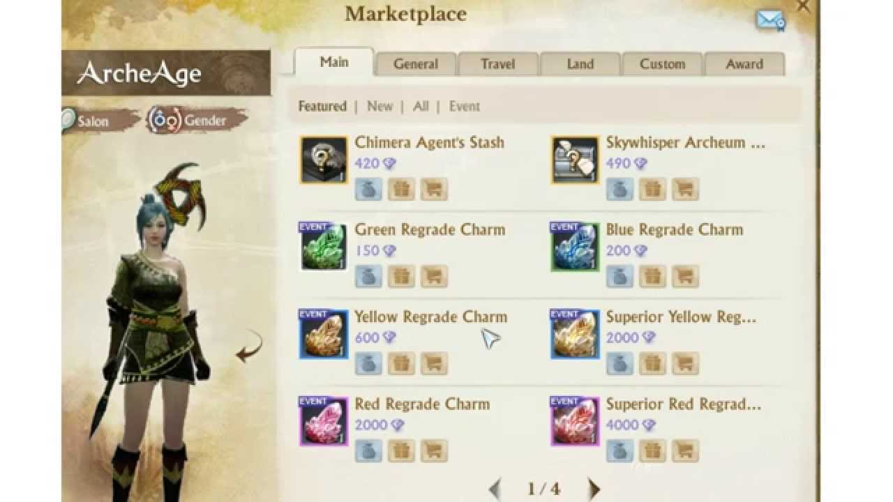 Archeage Buy One Get One Free Event Red Regrade Charms New Items