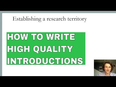 Establishing a research territory | How to write a research introduction