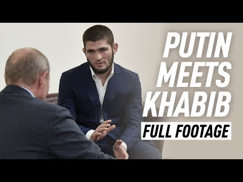 Video: Khabib meets with Putin, receives hero's welcome back in Dagestan