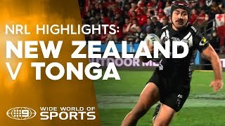 Test Match Highlights: New Zealand v Tonga | NRL on Nine