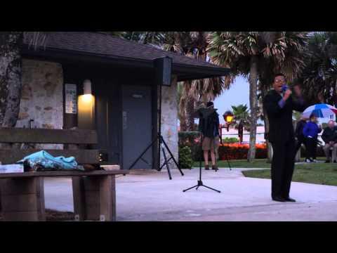 Edmund Nalzaro Sings for 2014 Sunrise Easter Service