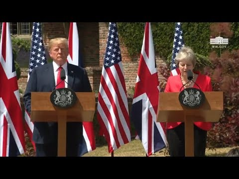 President Trump Participates in a Joint Press Conference with the Prime Minister of the UK