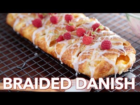 Easy Peach Cream Cheese Braided Danish - Natashas Kitchen