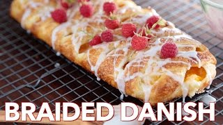 Dessert: Peach Cream Cheese Braided Danish - Natashas Kitchen