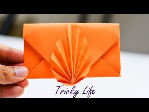 DIY |BEAUTIFUL PAPER ENVELOPE WITHOUT GLUE| PAPER CRAFT| ORIGAMI| TRICKY LIFE|