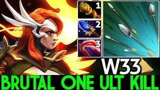 W33 [Windranger] First Item MKB One ULT Kill Super Mid 7.22 Dota 2