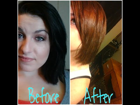 removing black hair color without damage - YouTube