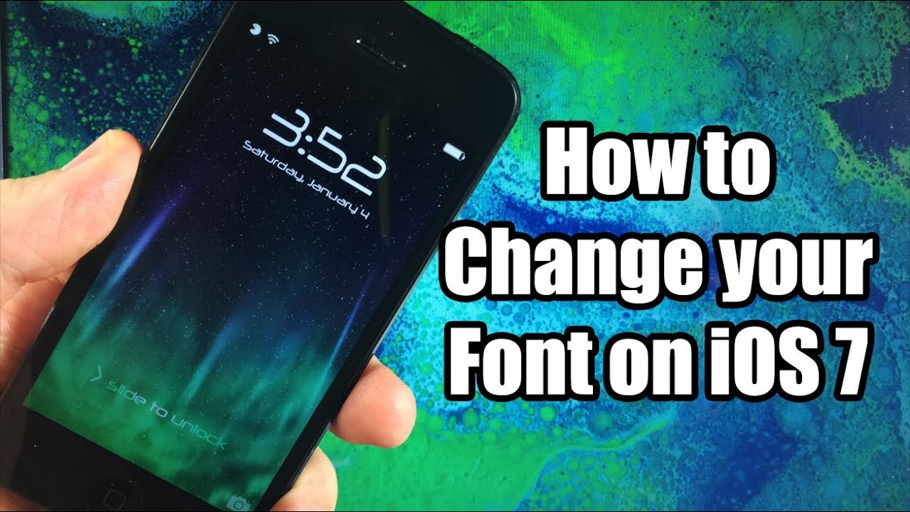 How To Change Your Font On Ios 7 Bytafont 2 Free Youtube