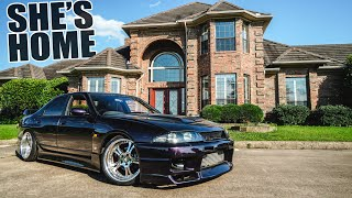 homepage tile video photo for Bringing the big turbo R33 to the NEW HOUSE! (POV driving)