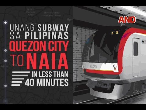 Unang Subway sa Pilipinas: QC to NAIA in less than 40 minutes