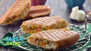 Cream Cheese Veg Panini by Tarla Dalal
