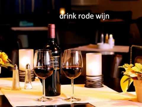 drink rode wijn