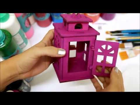 Ahsap Boyama Dekoratif Ahsap Mini Fener Youtube