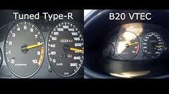 0 100 B20b Non Vtec Honda Civic Shutlle Ef4 прямая трасса на 63