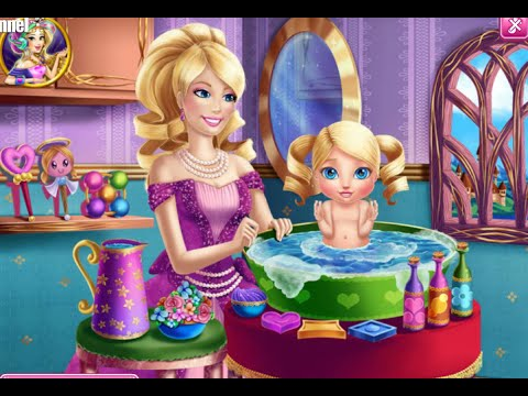 Attractive Barbie Princess Baby Wash U0026 Super Barbie Real Cooking Online Free Flash  Game Videos GAMEPLAY