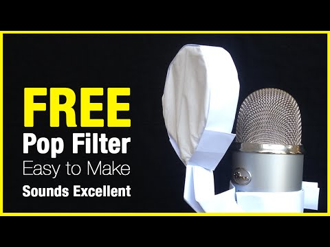 Make an Effective Microphone Pop Filter Out of Paper