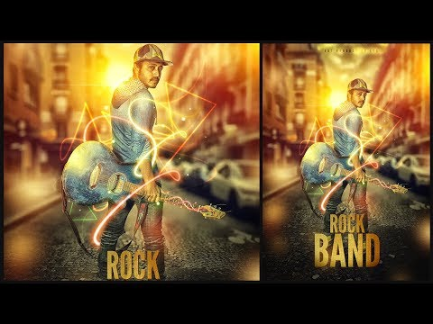 Create A Rock Band Music Poster Design | Photoshop CC Tutorial