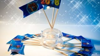 Мастер-класс: Как сделать сделать новогоднее украшения для маленьких тортиков или закусок