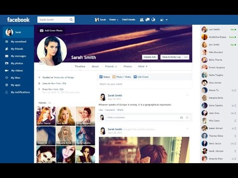 How To Change your Old Facebook Look into New Flat Facebook Design