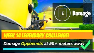 Damage Opponents at Greater than 50 Meters away & Opponents Locations - Fortnite