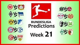 2018-19 BUNDESLIGA PREDICTIONS - WEEK 21