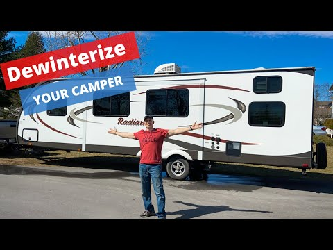 How to de-winterize your RV and sanitize your water system