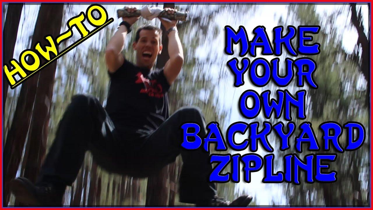 How to make your own 100 backyard zip line build your own how to make your own 100 backyard zip line build your own homemade diy zipline sensei ryan youtube solutioingenieria Choice Image