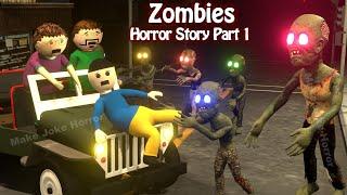Zombies Horror Story Part 1 | Ufo Scary Stories | Horror Movies 2020 | Make Joke Horror