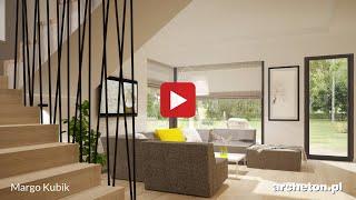 Projekt domu Margo Kubik - archeton.pl - z użytkowym poddaszem 161,6 m2