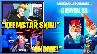 Tfue & Streamers Reacts To *NEW* GNOME 'GRIMBLES' Skin..! (Fortnite FUNNY & Daily Best Moments)